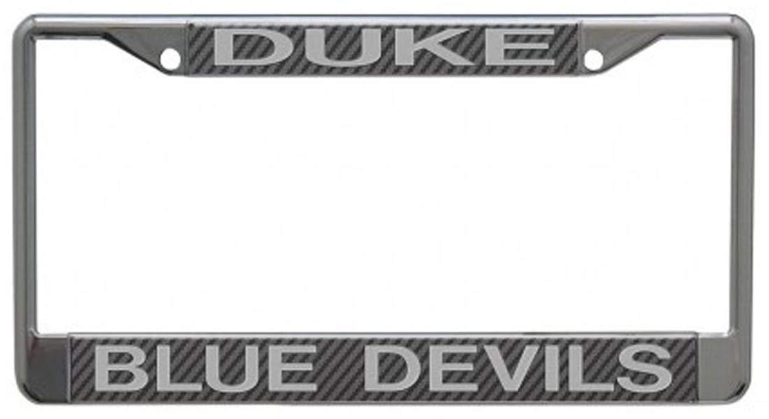 Stockdale NCAA デューク大学 ブルーデビルズ プレミアムライセンスプレートフレーム カーボンファイバーエディション