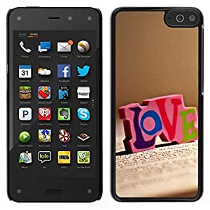 Caucho caso de Shell duro de la cubierta de accesorios de protección BY RAYDREAMMM - Amazon Fire Phone - Amor Amor