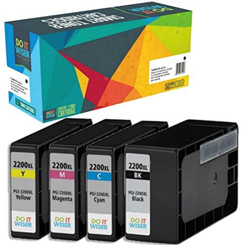 Magenta Model Cartridge Inkjet (Do it Wiser Compatible PGI-2200XL Ink for Maxify MB5020 iB4120 MB5320 MB5420 MB5120 iB4020 Printer 4 Pack (1 Black,1 Cyan,1 Magenta,1 Yellow))