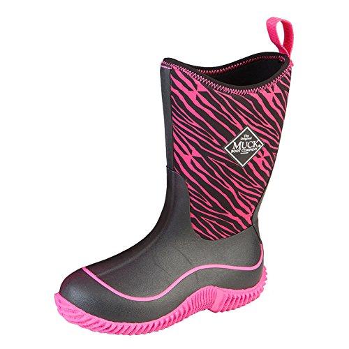 Muck Boots Hale Multi-Season Kids' Rubber Boot,Pink Zebra,12 M US Little ()