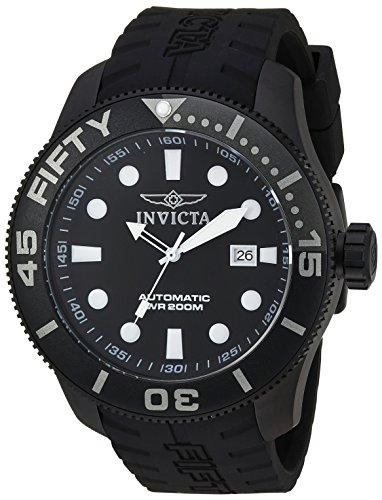 Invicta Men's 'TI-22' Automatic Titanium and Silicone Casual Watch, Color:Black (Model: 20521)