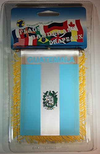 Guatemala Flag Rear View Mirror Mini Banner 4