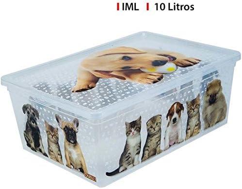 CAJA PLÁSTICO 10L CATSDOGS IML CONFORTIME: Amazon.es: Hogar