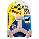 Bullibone Nylon Dog Chew Toy JUMBO Spin-a-Bone- Bacon Flavor - Interactive Dog Toy, Triggers Natural Instincts, and Improves Oral Health