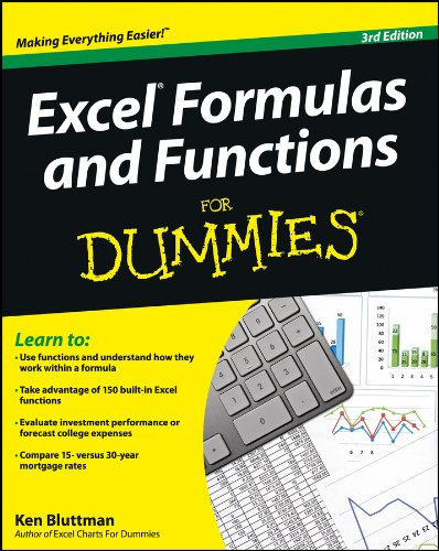 Download Excel Formulas and Functions For Dummies Pdf