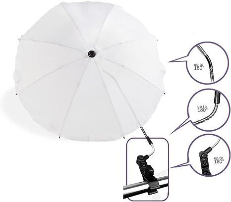 Baby Pram Pushchair Sun Parasol//Universal Umbrella Shade Canopy Beige