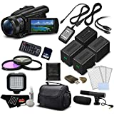 Sony FDR-AX700 4K HDR Camcorder w/3.5 Inch LCD (FDR-AX700/B) Deluxe Bundle- International Version (No Warranty)