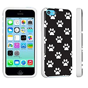 M.Y.S.YApple iPhone 5c Hard Case White - (Paw Print Black)