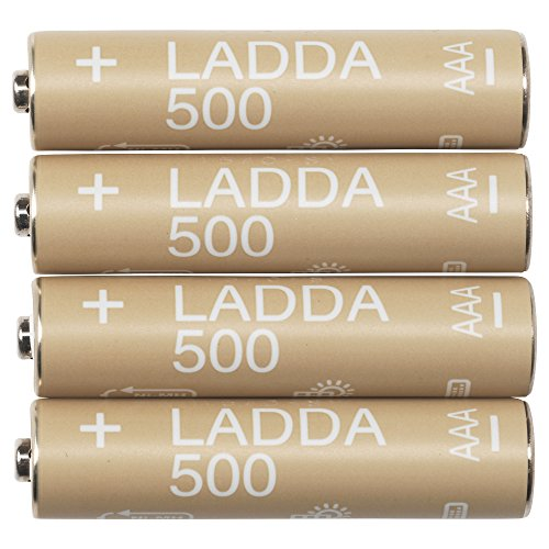 IKEA LADDA AAA 500 mAH Ni-MH Pre-Charged Rechargeable Batteries (Made in Japan)