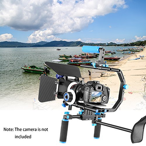 Neewer Professional DSLR Rig Set Movie Kit Film Making System for All DSLR Cameras and Video Camcorders,Include:Shoulder Mount+Follow Focus+Matte Box+C-shaped Bracket and Top Handle