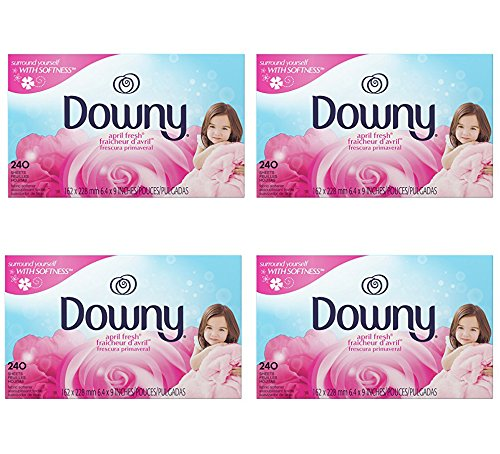 Downy April Fresh msUIac Fabric Softener Dryer sheets, 240 Count (4 Pack) by qofny