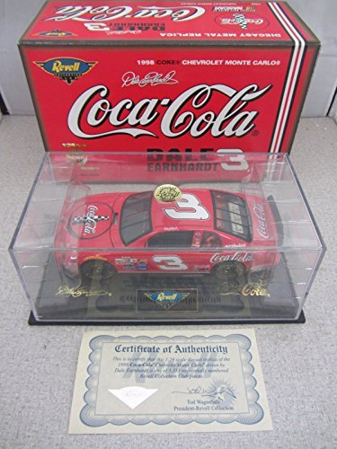 Revell Collection Dale Earnhardt Sr #3 Red Coca Cola 1998 Monte Carlo 1/24 Scale 1st Head to Head Race With Dale Jr Motegi Japan Hood, Trunk Open Limited Edition (Revell Collection)