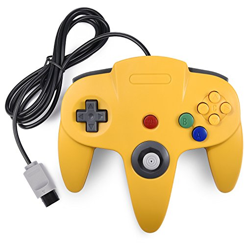 N64 Classic Controller, miadore Rerto N64 Gaming Remote Gamepad Joystick for N64 Console Video Game System ( Yellow and Blue) ()