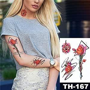 5Pc-Impermeabile Autoadesivo Del Tatuaggio Del Piccione Rosa ...