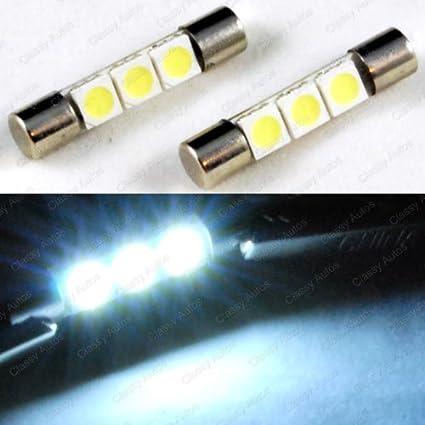 Amazon.com  ZHOL SUPER BRIGHT White Vanity LED Light bulbs Mirror Fuse Sun  Visor 3-SMD 6641 (A Pair)  Automotive e84c88f9071