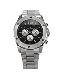 ++CANALOHA:)++ KS Mens Stainless Steel Army Military Day/Date Automatic Mechanical Sport Watch
