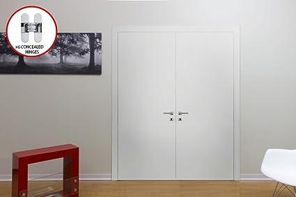 Attrayant Planum 0010 Interior Double Door White Silk Without Casings (48u0026quot; X  80u0026quot;,