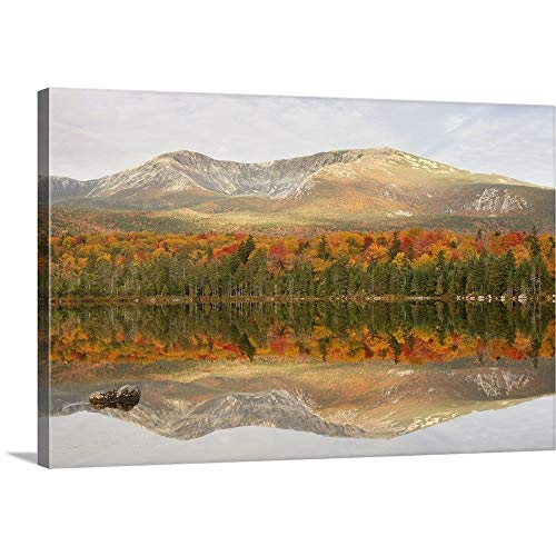 Great Big Canvas Gallery-Wrapped Canvas Entitled Sandy Stream Pond 30
