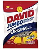 DAVID Roasted and Salted Original Jumbo Sunflower Seeds, 5.25 oz (Pack of 12)
