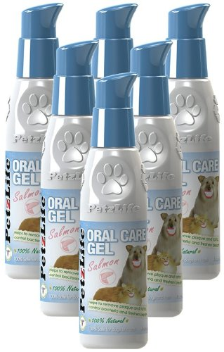 6PACK Petzlife Oral Care Gel w/ Salmon Oil (24 oz) by PetzLife