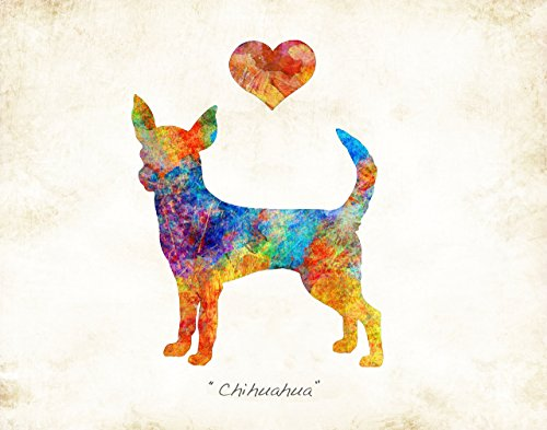 Breed Chihuahua (CHIHUAHUA Dog Breed Watercolor Art Print by Dan Morris)