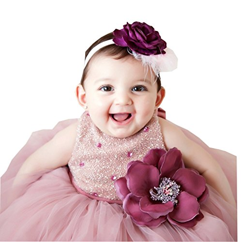 Kelaixiang Christening Dresses For Baby Girl Jewel Sleeveless Handmade Flower (12-18months)