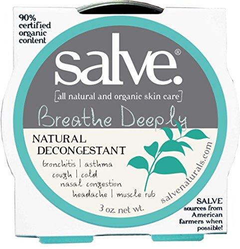 SALVE Breathe Deeply, FDA Approved 100% Natural bronchodilator, Asthma, Vapor rub