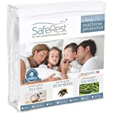 Twin Size SafeRest Classic Plus Hypoallergenic Waterproof Mattress Protector - Vinyl Free