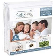 King Size SafeRest Classic Plus Hypoallergenic Waterproof Mattress Protector - Vinyl Free