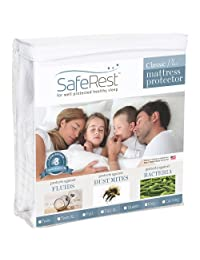 Twin Size SafeRest Classic Plus Hypoallergenic 100% Waterproof Mattress Protector - Vinyl Free