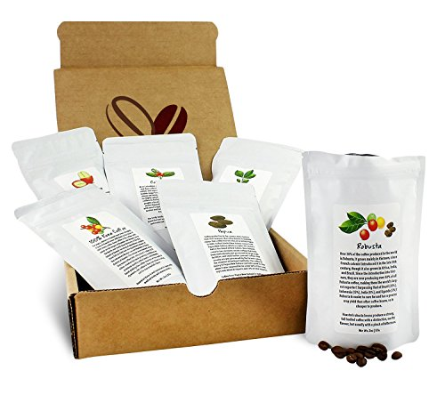 Specialty Whole Bean Coffee Sampler, 6 Fresh Roasted Bags of Whole Bean Medium Roast Coffee, Kona, Costa Rican, PNG, Colombian, Etc (2oz Each, 12oz Total)