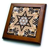 Phil Perkins - Religion - Architectural Star of David - Judaism star of David architecture design - 8x8 Framed Tile (ft_243450_1)
