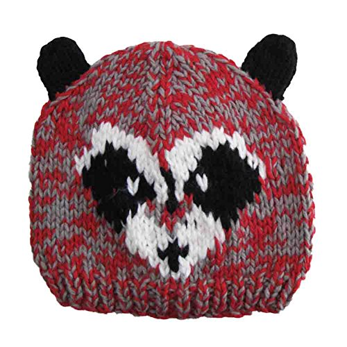 [Comfy Animal Knit Beanie Hat for Kids for Fall Winter or Costume - Raccoon (2 - 12 Years)] (Raccoon Girl Costumes)