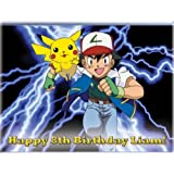 "Single Source Party Supplies - Pokemon Cake Edible Icing Image #2 - 8.0"" x - 10.5"" Rectangular"