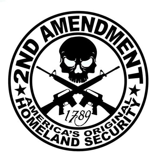 - M CARBO 6-Pack 2nd Amendment - America's Original Homeland Security Round Bumper Sticker Decal   3.5