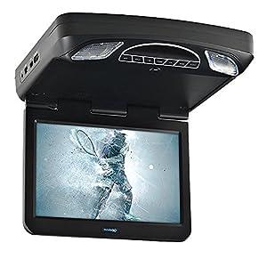 "Audiovox 13.3"" HD Digital Overhead Flip Down LED Car Monitor w/ DVD Player"