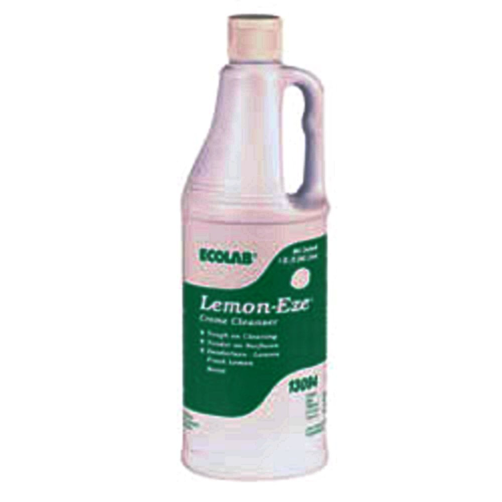 Ecolab 13094 LemonEze Cream Cleanser, Pro-Strength Lemon-Eze Blasts Grime, Grease & Scum (12/cs)