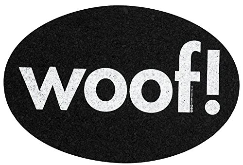 ORE Pet Recycled Rubber Oval Woof! Placemat - Regular ()