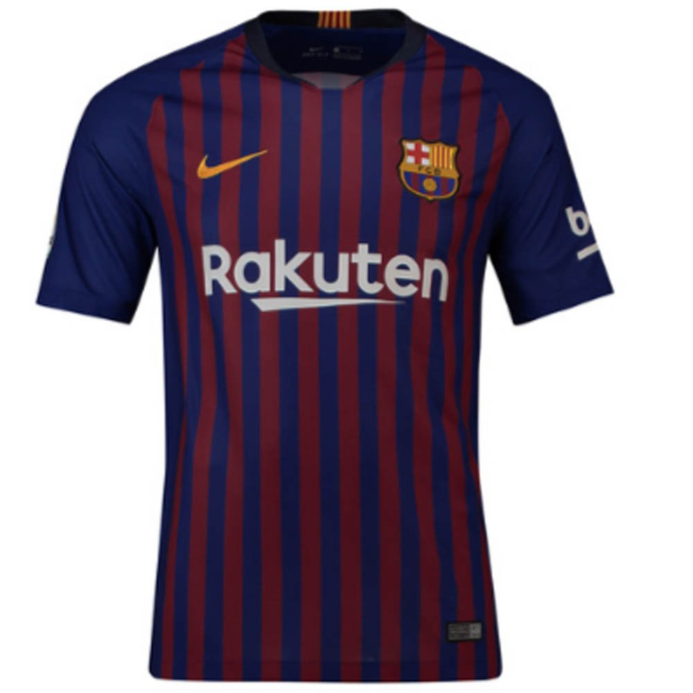 2018-2019 Barcelona Home Nike Football Soccer T-Shirt Jersey (Lionel Messi 10)