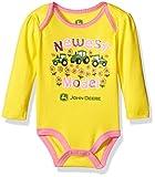 John Deere Girls' Newest Model Bodyshirt, Yellow, 9/12 Months