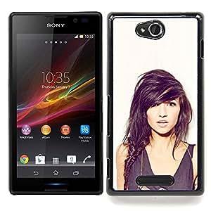 """Qstar Arte & diseño plástico duro Fundas Cover Cubre Hard Case Cover para Sony Xperia C (Sexy Girl"""")"""