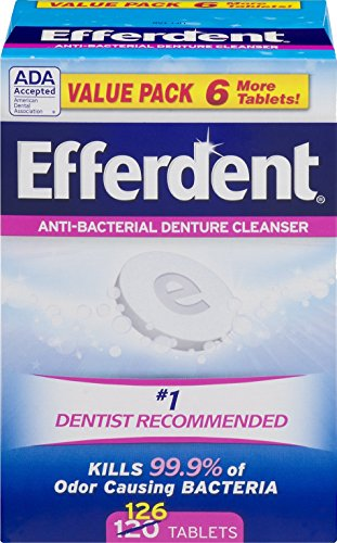 Efferdent Anti-Bacterial Denture Odor Cleanser (126 - Denture Cleaner