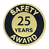 25 years of service pin - PinMart's Gold and Navy 25 Year Safety Award Enamel Lapel Pin
