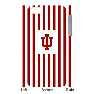 Ncaa Indiana Hoosiers iPhone 5/5s Red White Stripe Hard Case Cover at NewOne by mcsharks