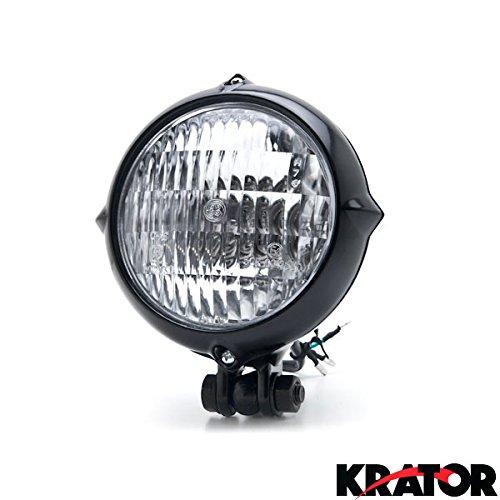 Amazon Com Krator Vintage Style Black Motorcycle Headlight Retro