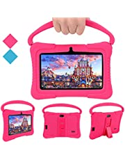 Veidoo Tablet voor kinderen, 7 inch tablet met 1 GB RAM/16 GB geheugen, IPS-scherm, premium ouderbesturing iWawa APP, kinderen (Roze)