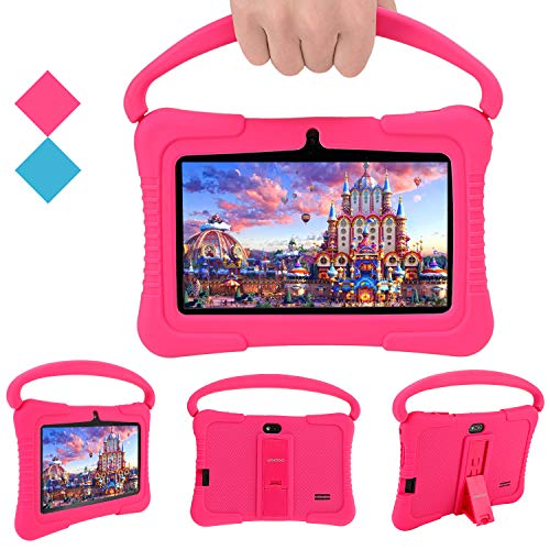 Kids Tablet, Veidoo 7 inch Android Tablet PC, 1GB RAM 16GB ROM, Safety Eye Protection Screen, WiFi, Bluetooth, Dual…