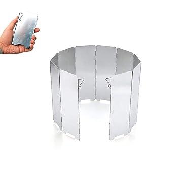 Parabrisas con Pantalla de la Mini Estufa, Parabrisas Plegable, al Aire Libre Cocina de