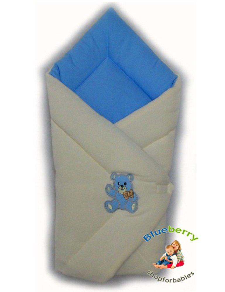 Blueberryshop chaud Thermo éponge Siège auto Swaddle Wrap Couverture/pour naissance, Vert Blueberry Shop for Babies 50002003