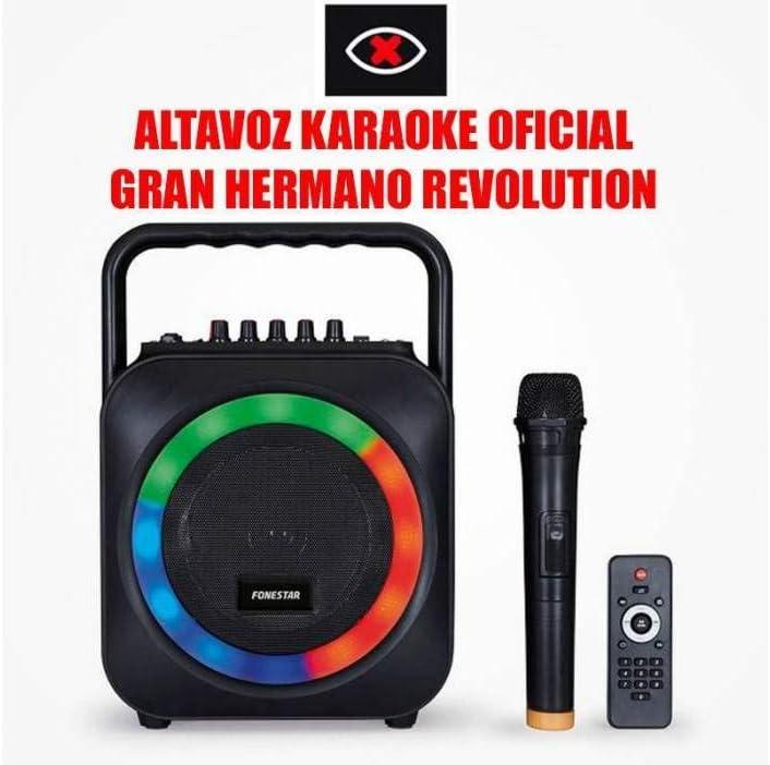 KARAOKE PORTATIL CON 2 MICROFONOS USB/SD/MP3 BOX-35LE CON 1 MICROFONO INALAMBRICO + MICROFONO DE MANO CON CABLE FDM-281 Gran Hermano Revolution.
